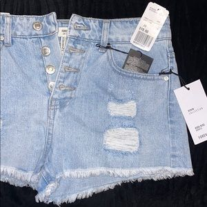 Shorts: Light Denim Shorts